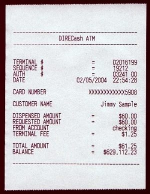 Fake Atm Receipts For Sale Boing Boing