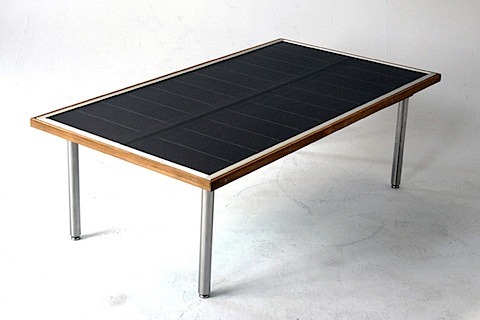 Solar Table Made From Teak And Stainless Steel Boing Boing