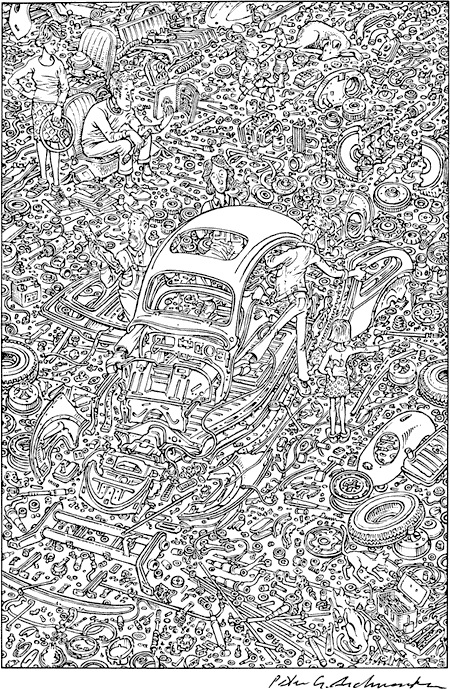 vw volkswagen bug exploded beetle aschwanden peter muir john alive keep poster manual idiot cars step illustrations kit drawing boingboing