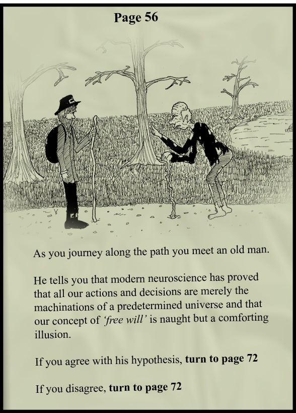 Page From A Choose Your Own Adventure Game About Free Will