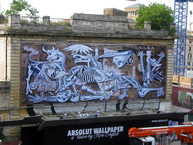Ron english 39 s x ray guernica boing boing for Mural guernica