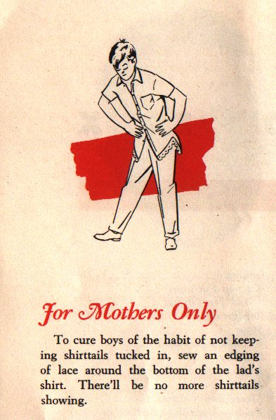 Weird 1940s advice for moms who want their boys to tuck in for No tuck golf shirts