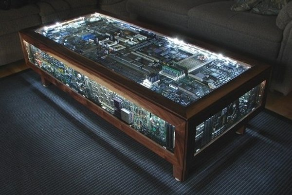 Coffee Table Made From Old Computer Parts Boing Boing