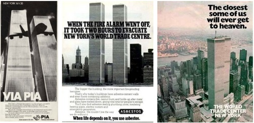 Foreboding ads featuring the World Trade Center / Boing Boing