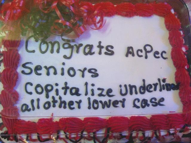 Funny Misspelled Birthday Cakes