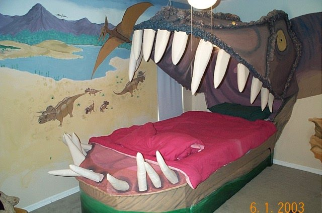Bed looks like a dinosaur's mouth - Boing Boing