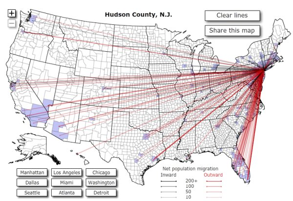 Interactive Map Of US Migration Patterns Boing Boing - Us map patterns