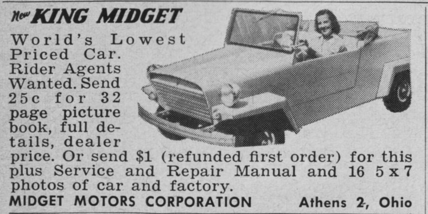 Are into King midget automobile