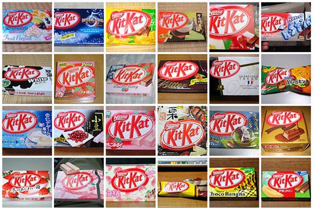 Photos Of 100 Different Flavors Of Kit Kat Boing Boing
