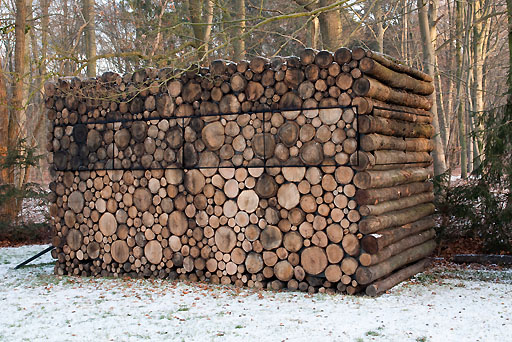 Log cabin with the logs cut perpendicular boing boing for What to make with tree logs