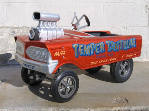 Steven Vandervate and Deron Wright modded a 1960s kids pedal car into this ...