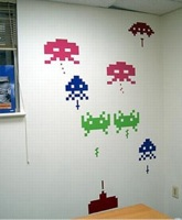 Boing Boing: Space Invaders wall decals :  lifestyle wallpaper geek home