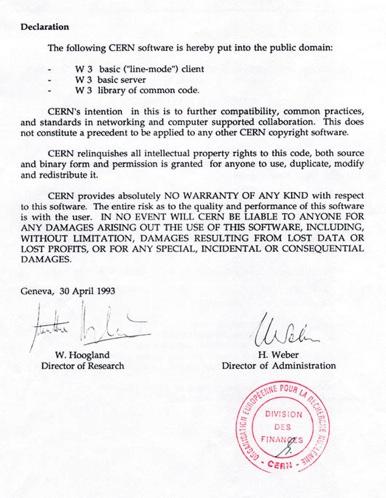 CERN letter