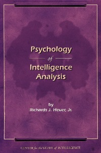 Library Center-For-The-Study-Of-Intelligence Csi-Publications Books-And-Monographs Psychology-Of-Intelligence-Analysis Cover