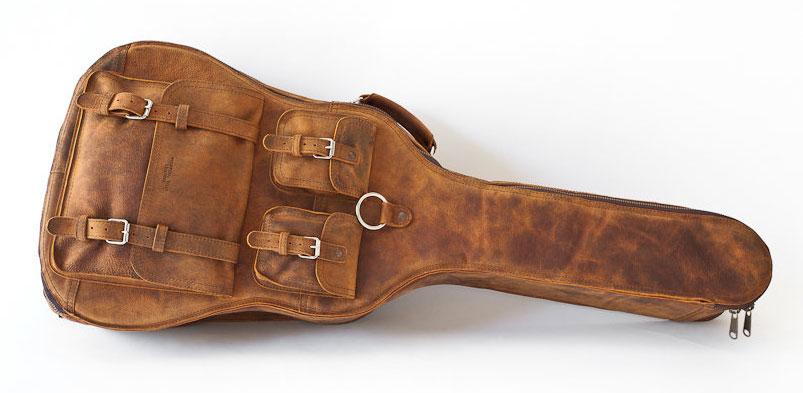 leather guitar bag and backpack boing boing. Black Bedroom Furniture Sets. Home Design Ideas