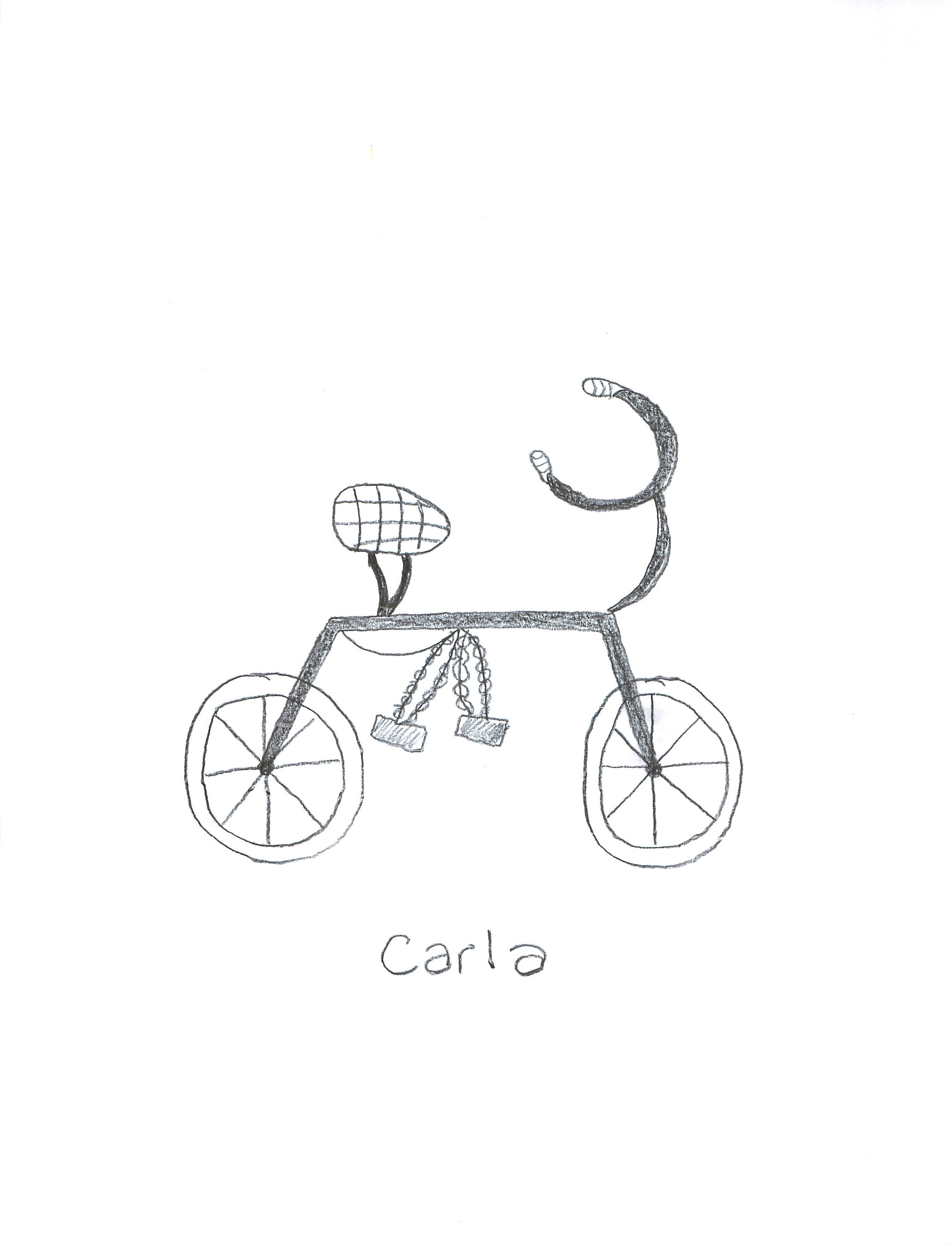Bicycle Kids Drawing Carla's Bike