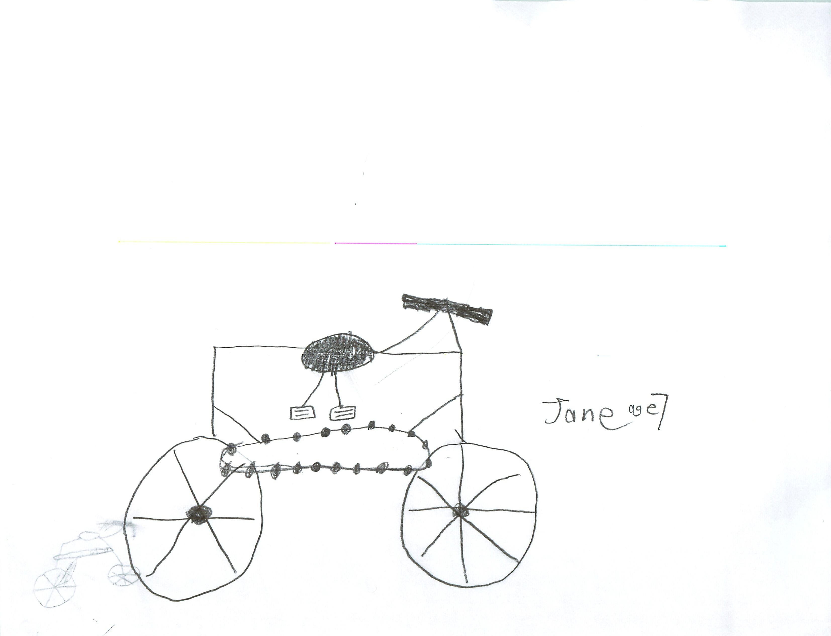 Bicycle Kids Drawing Mark's Bike Lilli's Bike