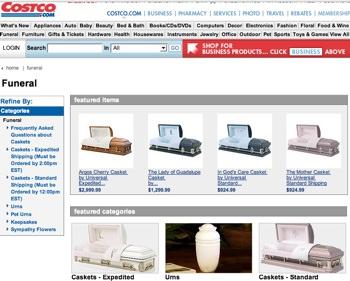 Caskets online costco : South vision center