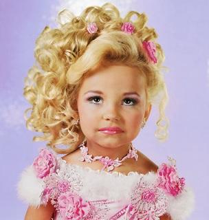 Portraits of child beauty pageant participants