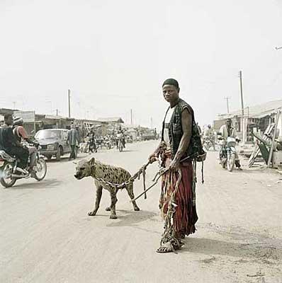 Afrikan med hyena