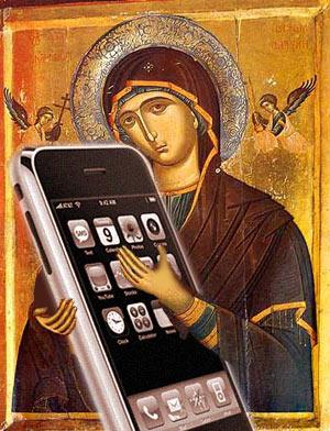 cristo y un iphone