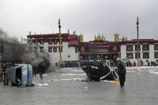 Violence in Lhasa, BoingBoing