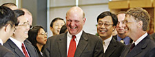 Steve Ballmer and Hu Jintao