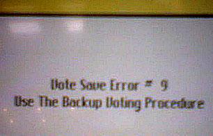 vote error