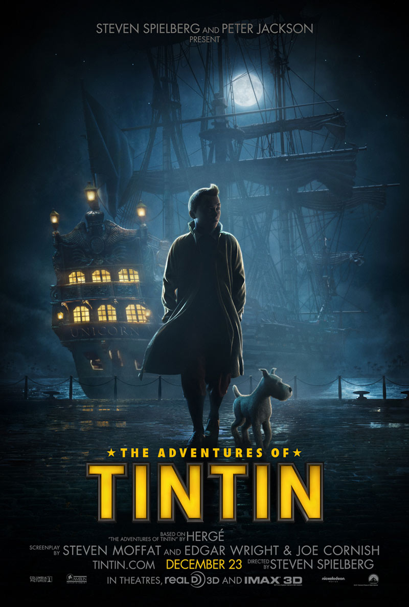 Adventures of Tintin movie poster / Boing Boing