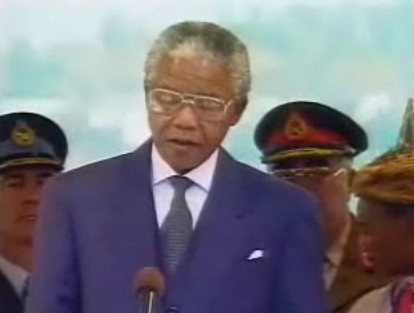 nelson mandela inauguration speech analysis essay Text of the speech given by nelson mandela, south africa's first black president, on the occasion of his 1994 inauguration ceremony published december 5, 2013 text as delivered by nelson mandela.