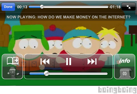 Apple has blocked the creators of South Park from selling an iPhone app based on the long-running cartoon series.