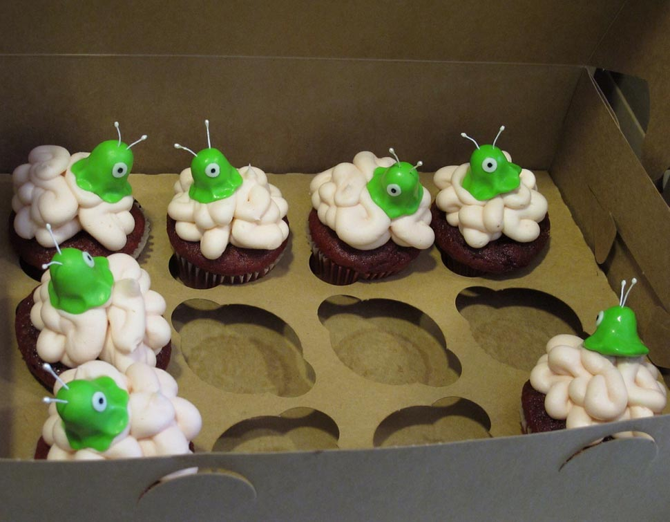 Brain Slug Cupcakes At Final Futurama Script Reading
