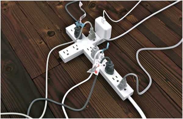 Never run an A/C off a power strip or extension cord