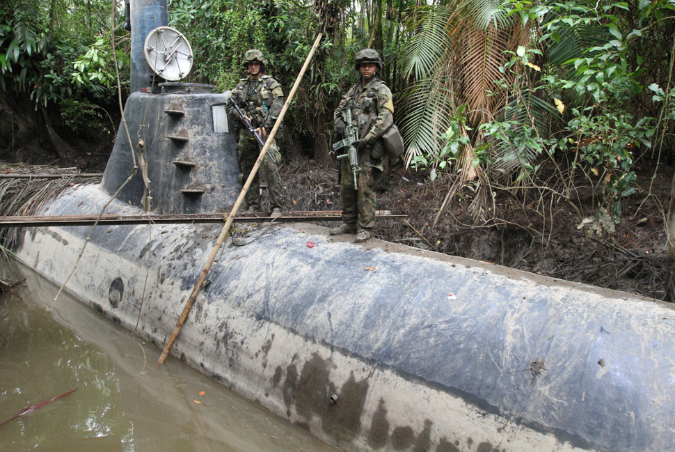 100-ft-long drug-smuggling, Narco-crafted submarine discovered in Colombia