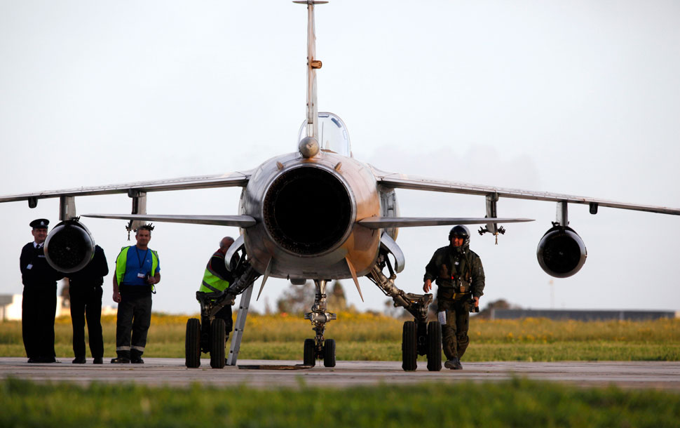 AP reports that two Libyan air force jets arrived in Malta today.