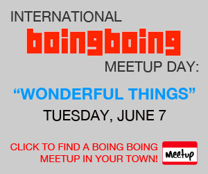 Boing Boing meetup day!