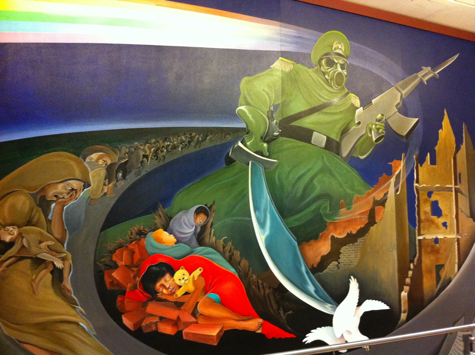 The freaky murals at denver international airport boing for Mural in denver airport