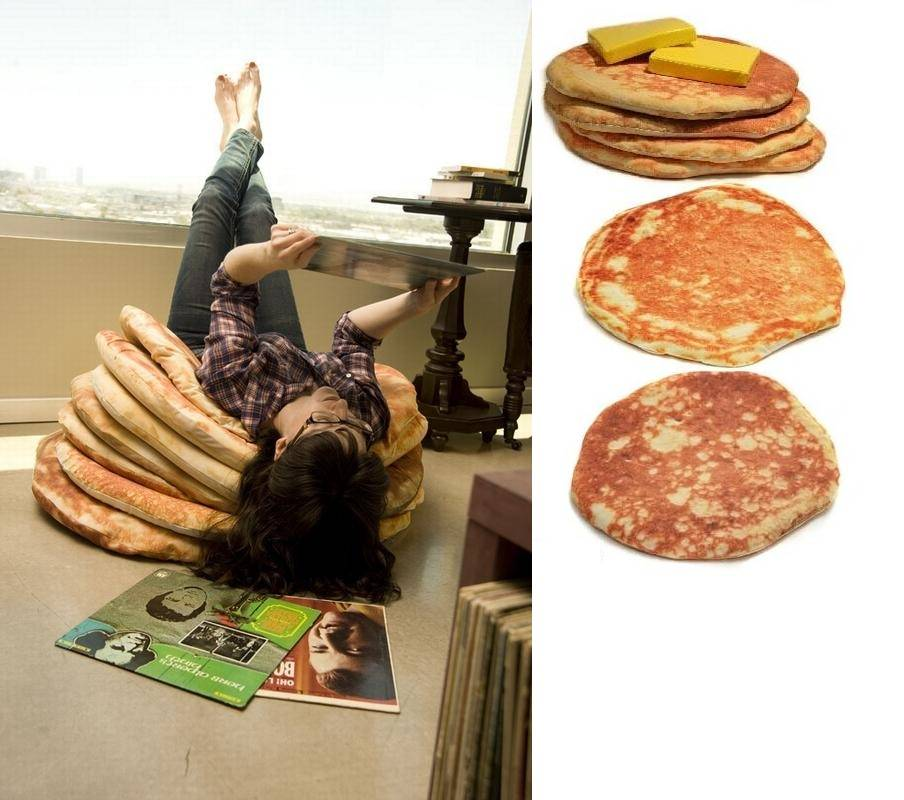 Todd Von Bastiaans Pancake Floor Pillows : Pancake floor pillows - Boing Boing