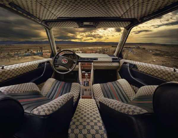 Photos of cars with counterfeit designer interiors boing - Louis vuitton fabric for car interior ...
