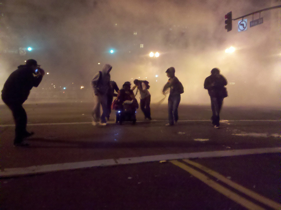 Police Use Tear Gas On Occupy Oakland Protesters