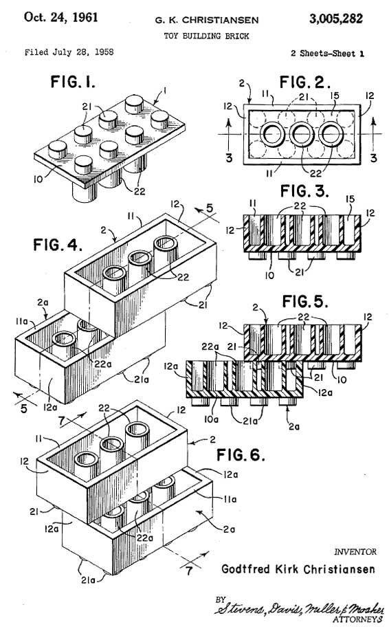 expired patent of the day  lego    boing boing