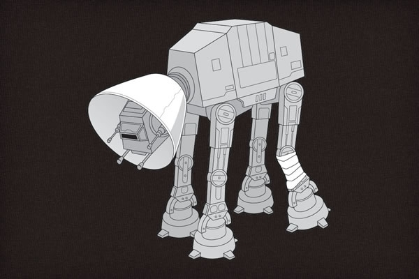 AT-AT walker must wear a cone