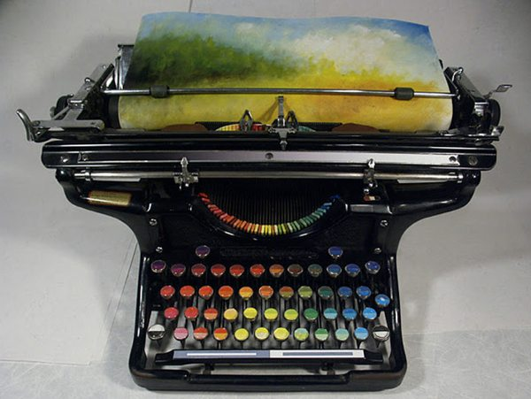 Conceptual typewriter types colors | Boing Boing