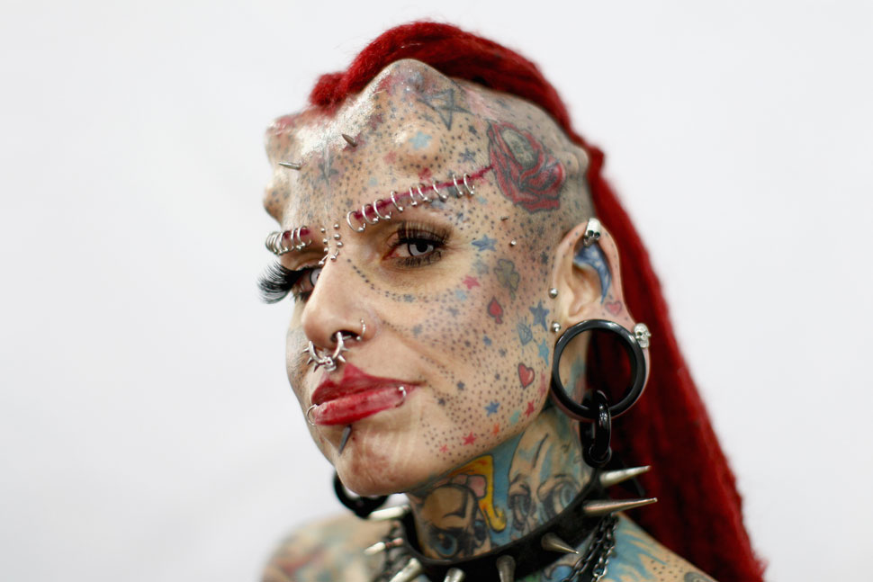 "Mexican tattoo star Maria Jose Cristerna, better known as ""La Mujer"