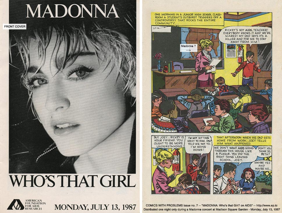 Madonna S Cautionary Aids Comic Handed Out At A 1987