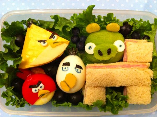 bekal makanan angry birds