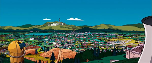 Simpsons Images 3 3E Springfield Panoramic