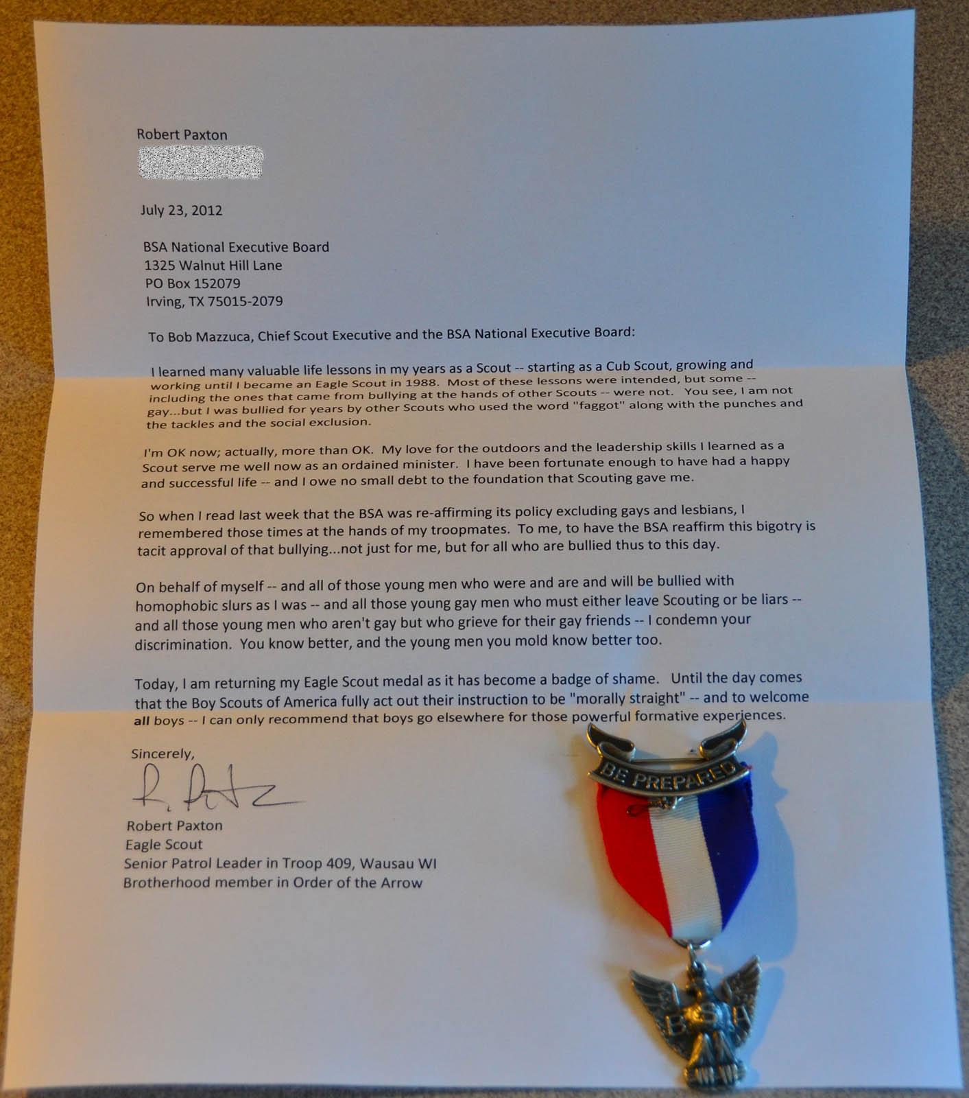 Eagle Scout Reccomendation Letter Pdf