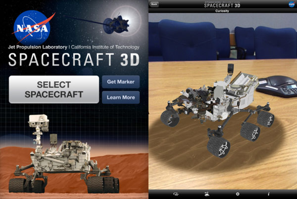 Spacecraft 3D: Nifty robotic space travel augmented ...