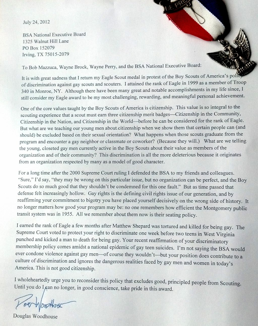 Bsa eagle personal essay